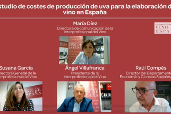 """OIVE presenta su """"Estudio de costes de producción de uva para la elaboración de vino en España"""""""
