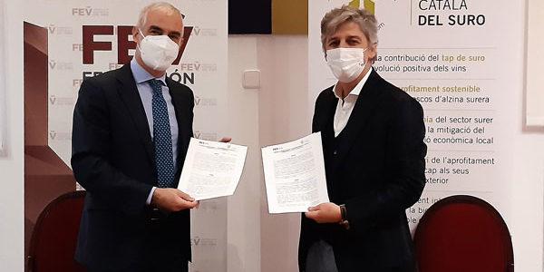 La FEV y el Instituto Catalán de Corcho firman un acuerdo de colaboración