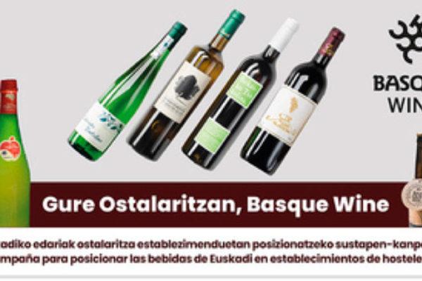 """""""Gure ostalaritzan, Basque Wine"""", un programa de apoyo de la hostelería a las bebidas de calidad de Euskadi"""