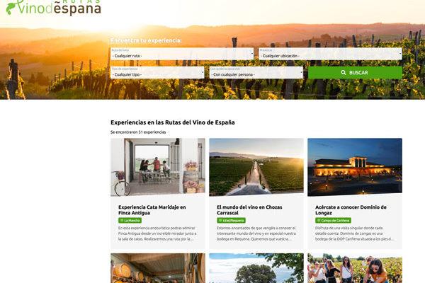 Nueva web de Rutas del Vino de España